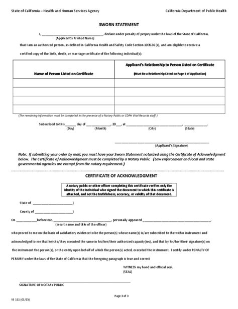 Live Birth Record Application For Certified Copy Of Birth Record