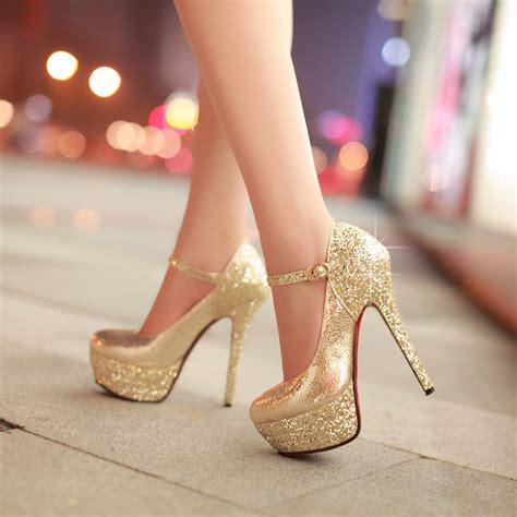 silver and gold high heels ultra high heels bling gold silver formal dress