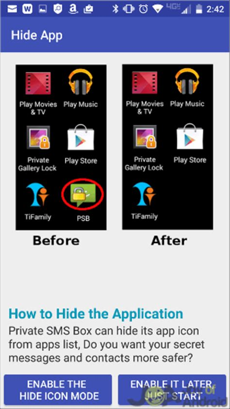 app to hide apps android how do you lock your messages on android