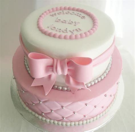 Pink Baby Shower Cake Pictures by Made Fresh Daily Quilted Pink And White Baby Shower Cake