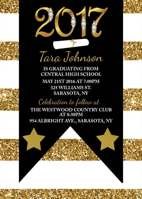 graduation party plus invitation