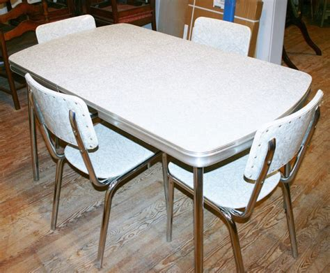 retro formica dining table and chairs vintage 1950s kitchen dinette set table 4 chair silver