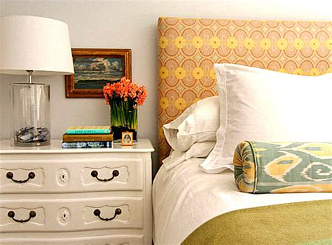 Fabric Covered Headboard Ideas by Decorating With Patterned Upholstered Furniture
