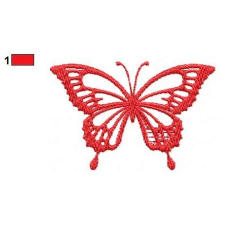 embroidery design butterfly red butterfly embroidery design