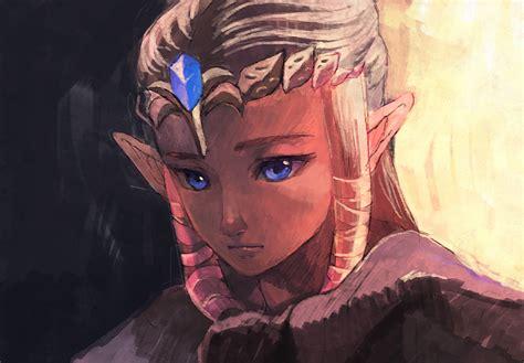 princess zelda hair safebooru blue eyes brown hair long hair nintendo penta5