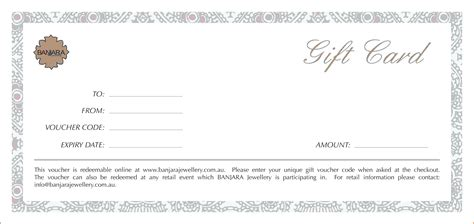 diy gift voucher template template diy gift voucher template