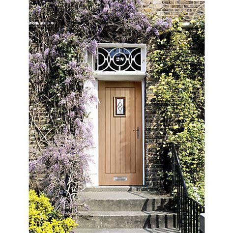 Chancery Triple Glazed Oak External Door 813mm Wide Homebase Front Doors