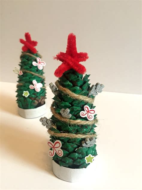 how to make pine cone christmas trees family focus blog