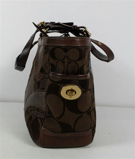 Coach Purse Patchwork - coach brown mosaic patchwork shoulder bag purse 13516 ebay