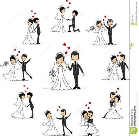 Hochzeit Comic by Personajes De Dibujos Animados De La Boda Vector Fotos De