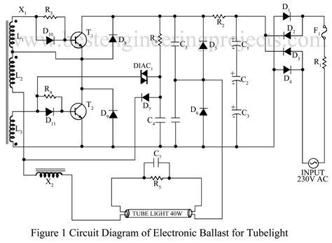 40w Electronic Ballast Circuit Diagram electronic ballast for lights