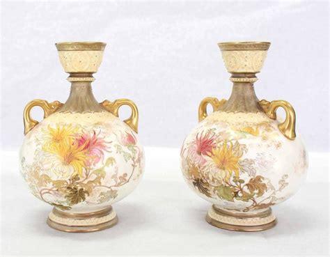 pair of royal worcester porcelain vases for sale at 1stdibs