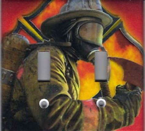 firefighter home decorations firefighter fireman home wall decor double light switch