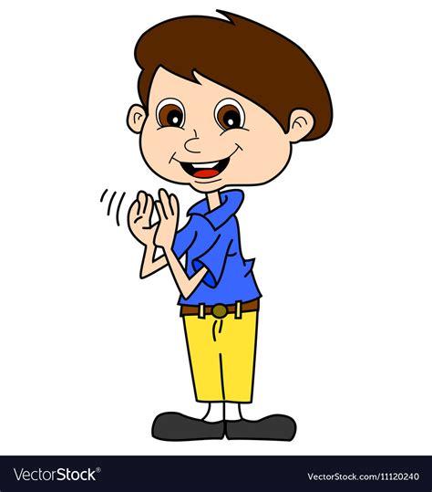 clapping clip boy clapping royalty free vector image vectorstock