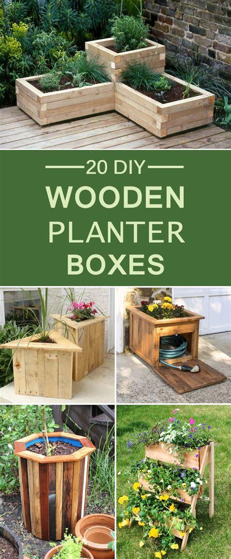 diy wooden planter boxes   yard  patio diy