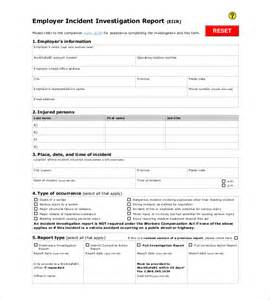 incident investigation template incident investigation report template 28 images