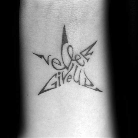 tattoo meaning never give up 60 never give up tattoos for men phrase design ideas