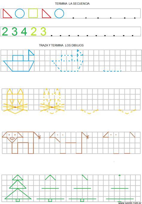 cenefas en cuadricula figuras en cuadricula para ni 241 os imagui