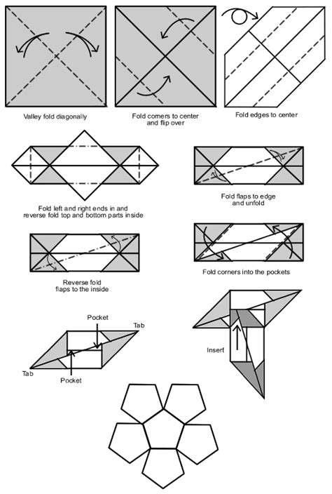 Origami Diagrams Compound Of Dodecahedron And Great - dodecahedron origami www pixshark