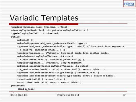 variadic templates c 11