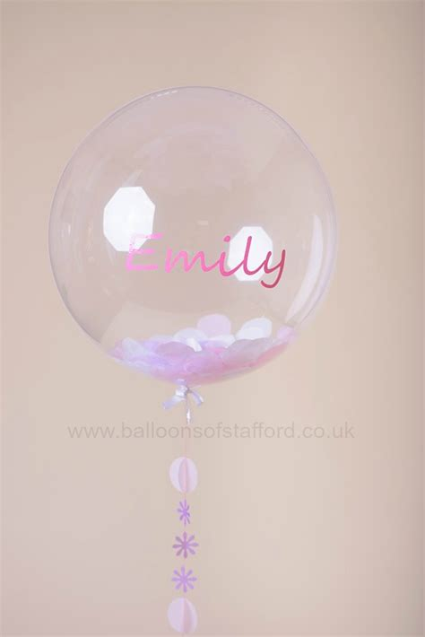 personalised bubble balloon balloons of stafford