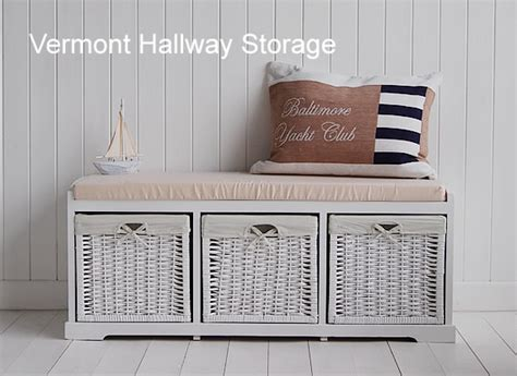 hall storage bench with baskets hall white storage seat hallway furniture for a growing family