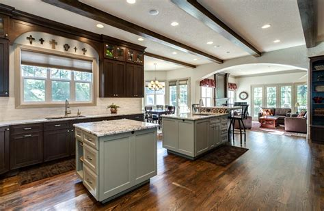 Kitchens With 2 Islands Denver Kitchen Remodel Features Butlers Pantry 2 Islands