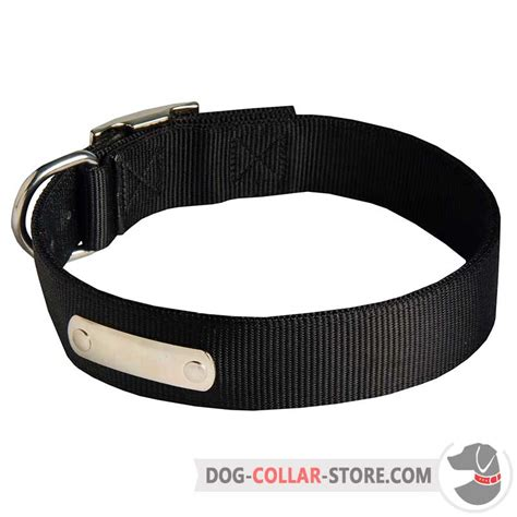 puppy id collars order durable doberman collar with id tag