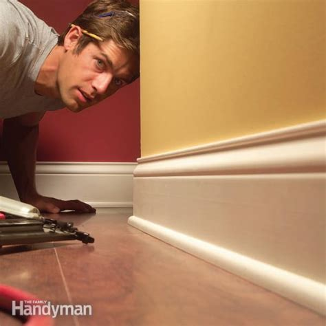 How To Install Baseboard Trim, Even On Crooked Walls   The
