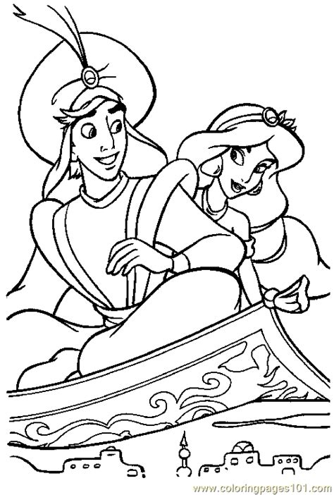 aladdin coloring pages online coloring pages aladin coloring page 02 cartoons gt aladdin