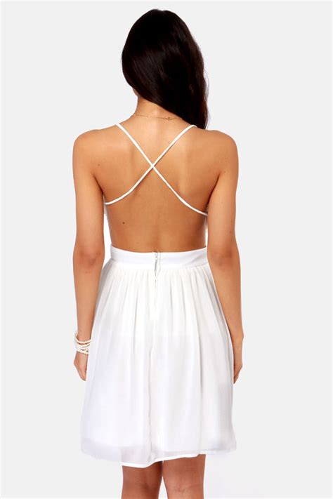 Lulus Exclusive Offer Get 15 On Fab Clothes by Pretty Ivory Dress Backless Dress 45 00