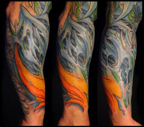 biomechanical arm tattoo biomechanical tattoos and designs page 96