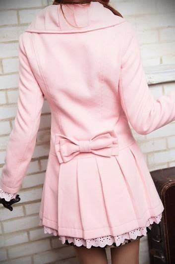 light pink pea coat light pink pea coat w bow style