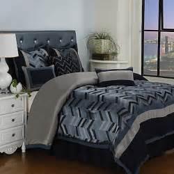 buy 7 comforter set in navy from bed bath