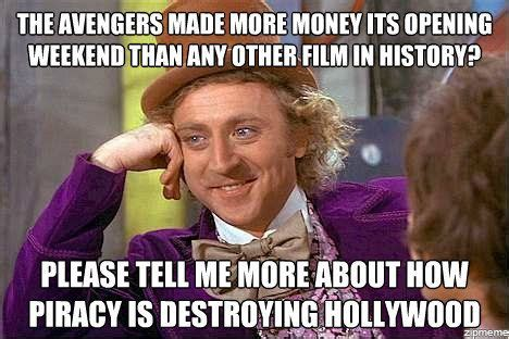 Piracy Meme - condescending wonka on piracy weknowmemes