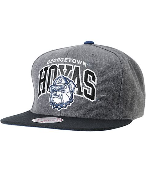 ncaa snapback hats c 8 ncaa mitchell and ness georgetown hoyas black grey