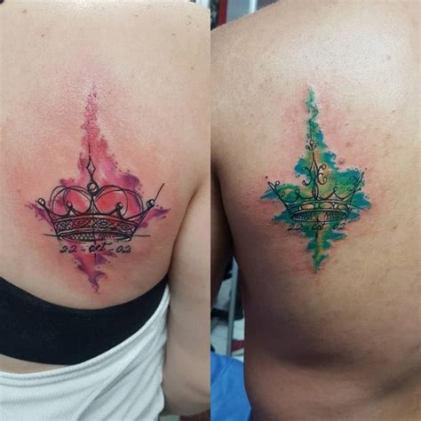 his n hers tattoos 120 cutest his and hers ideas make your bond stronger