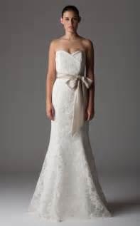 lace mermaid wedding dresses ivory lace mermaid wedding dress with chagne sash