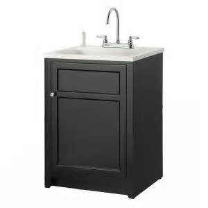 Laundry Room Sink Vanity Foremost Conyer 24 In Laundry Vanity In Black And Abs Sink In White And Faucet Kit Coba2421
