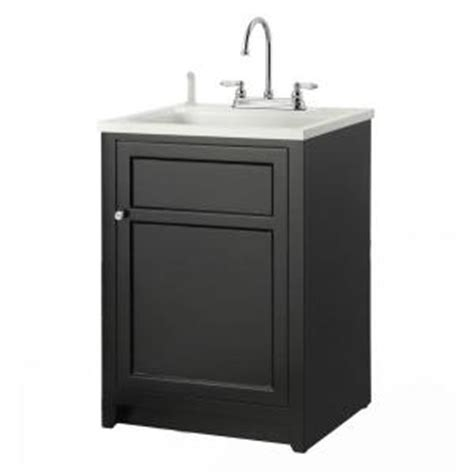 Laundry Room Vanity Cabinet Foremost Conyer 24 In Laundry Vanity In Black And Abs Sink In White And Faucet Kit Coba2421
