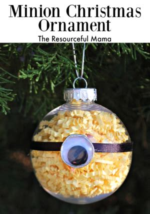 minion homemade christmas ornament  resourceful mama