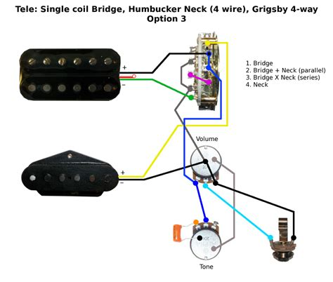 tele single coil bridge humbucker neck wiring