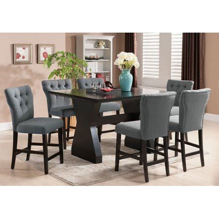 grey counter height table set 1perfectchoice effie 7 pc counter height dining set