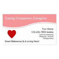 caregiver business cards caregiver business cards zazzle