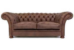 Chesterfield Sofa Bed The Scholar 2 Seat Rustic Leather Chesterfield Sofa Bed From Boot