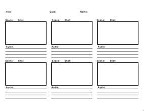 storyboard templat downloadable storyboard templates for broadcast journalism