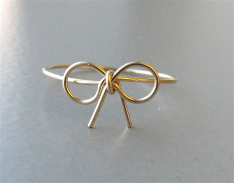14k gold bow ring gold wire bow ring bow ring bow ring