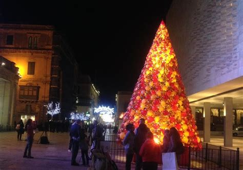 traditional christmas tree in valletta tvm news