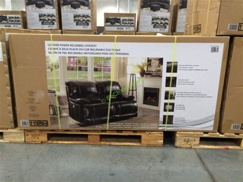 power reclining sofa costco leather power reclining loveseat costcochaser