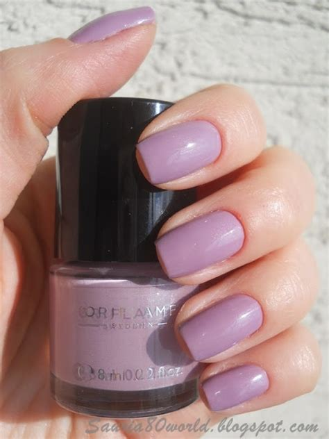 Manicure Oriflame colour nail lavender shimmer 24424